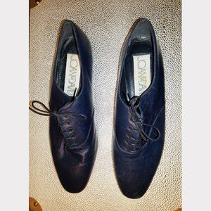 Vtg 80s Joan & David Leather LaceUp Oxford Shoes 8